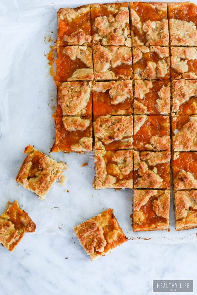 Gluten Free Apricot Bars are perfectly sweet and buttery paleo recipe | ahealthylifeforme.com