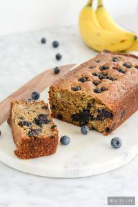 Gluten Free Banana Blueberry Bread is the perfect combination of two terrific fruits to give you a great tasting substantial bread, that is perfect in the morning with coffee or an afternoon snack   ahealthylifeforme.com