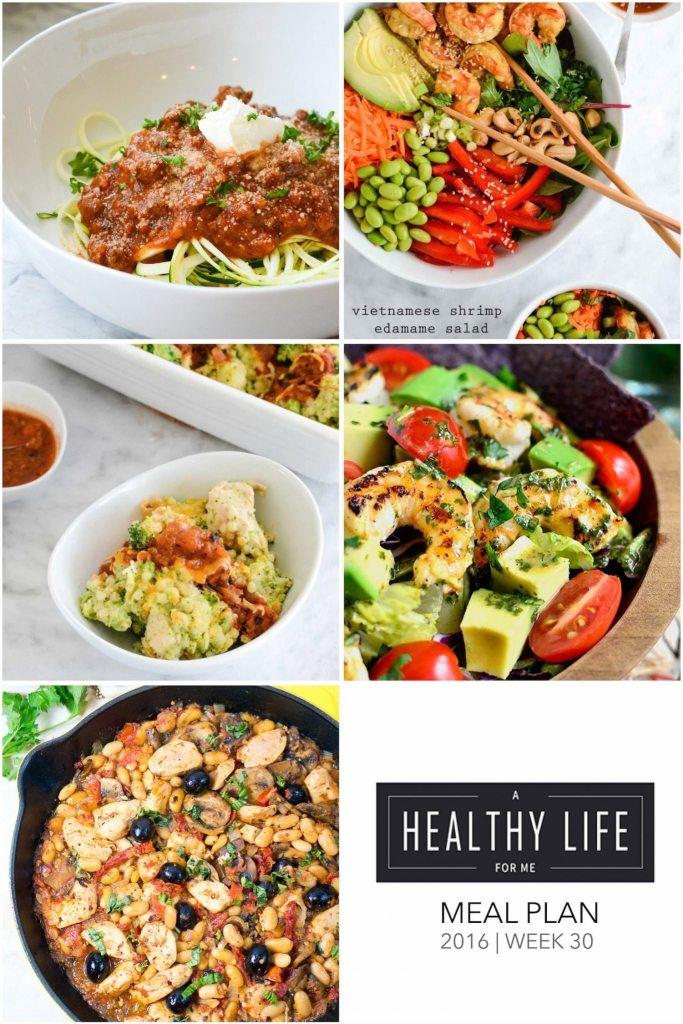 Healthy Weekly Meal Plan Week 30 | ahealthylifeforme.com