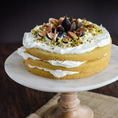 Gluten Free Fig Cream Cake