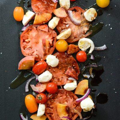 Peach Tomato Caprese Salad {gluten free}