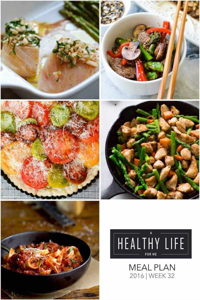 Healthy Meal Plan Week 32 | ahealthylifeforme.com