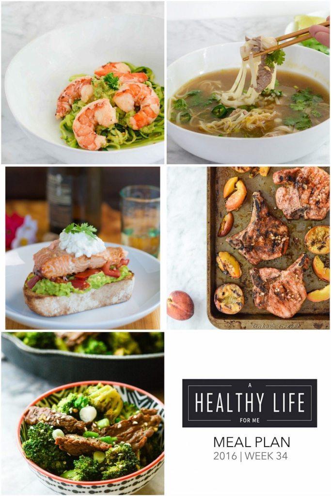 Healthy Weekly Meal Plan Week 34 | ahealthylifeforme.com
