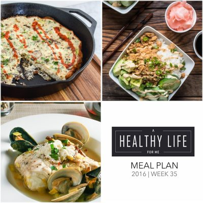 Weekly Meal Plan Week 35