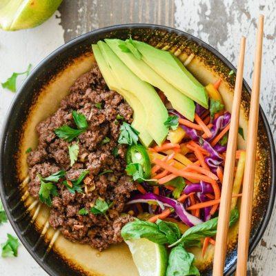 Asian Beef Rainbow Salad {paleo + gluten free}