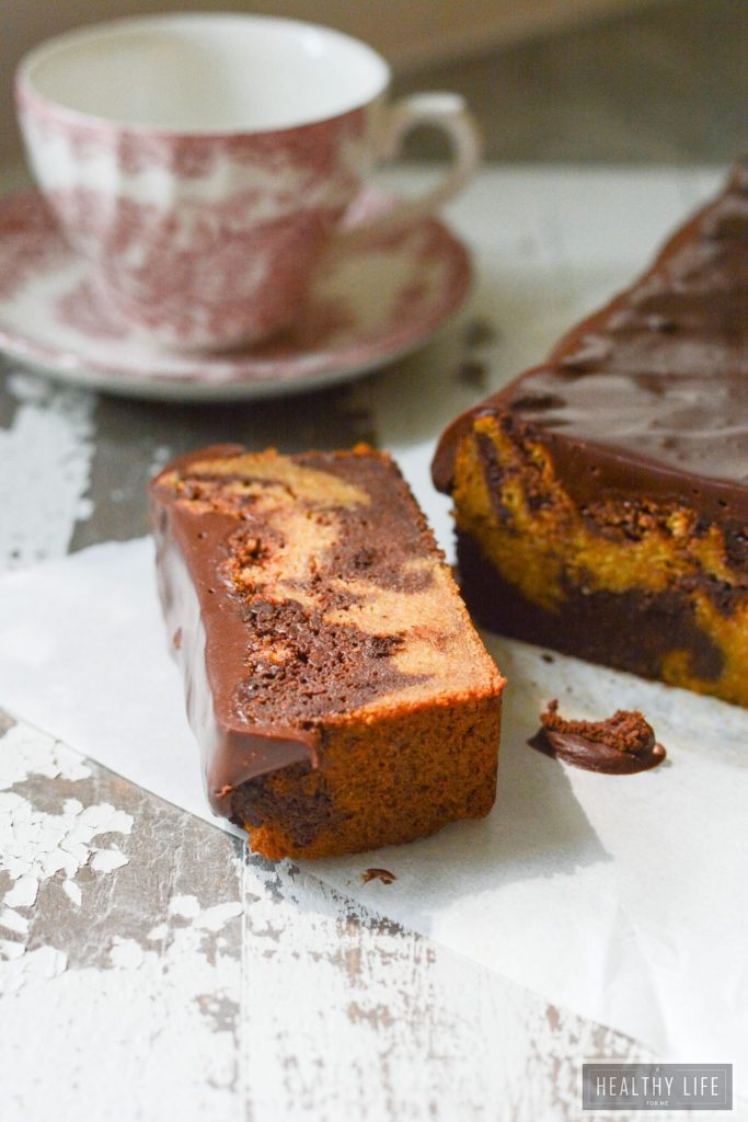 Paleo Pumpkin Banana Chocolate Swirl Bread is gluten free lightened up recipe | ahealthylifeforme.com