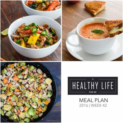 Weekly Meal Plan Week 42