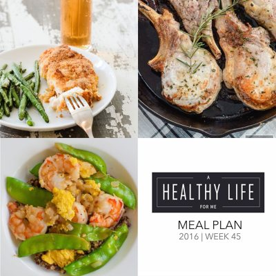 Weekly Meal Plan Week 45
