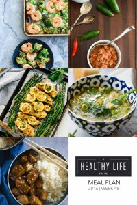 Healthy Weekly Meal Plan | ahealthylifeforme.com