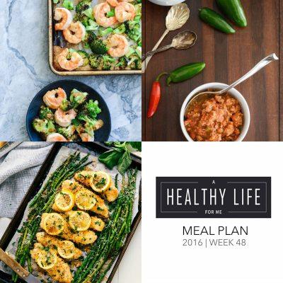Weekly Meal Plan Week 48
