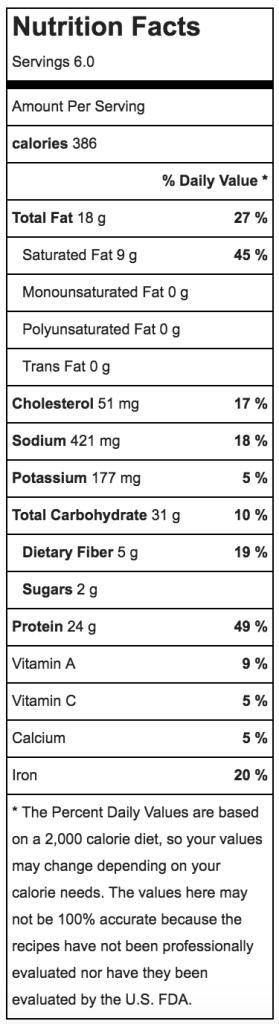 Nutritional Information for Farro Beef Mushroom Asparagus Recipe | ahealthylifeforme.com