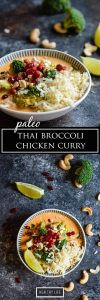 Healthy Weeknight Dinner Recipe Paleo Thai Broccoli Chicken Curry | ahealthylifeforme.com
