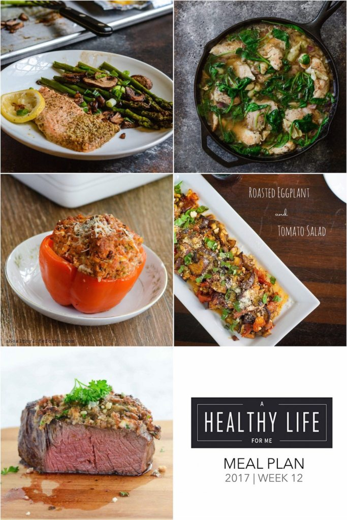 Weekly Meal Plan Week 12