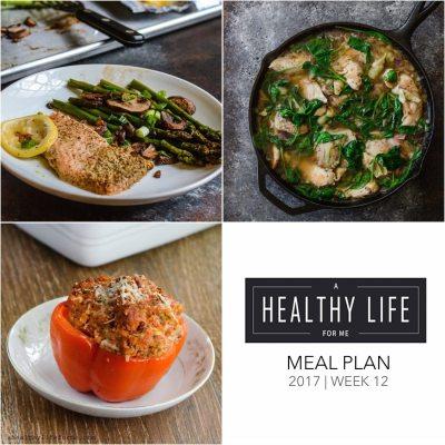 Weekly Meal Plan Week 12