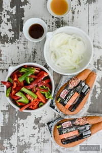 Gluten Free Dairy Free Grilled Sausage Peppers and Onion Recipe