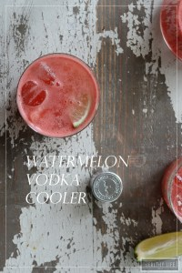 Watermelon Vodka Cooler Recipe | ahealthylifeforme.com