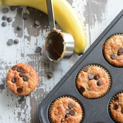 Banana Peanut Butter Protein Muffins