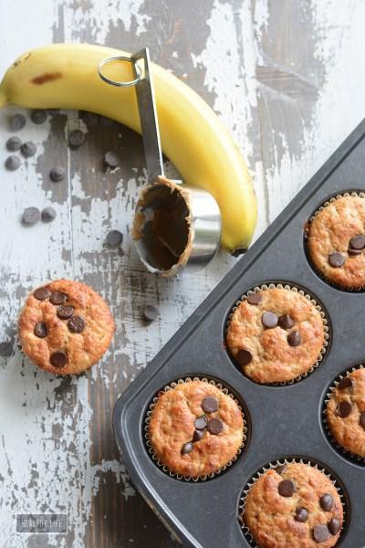 Banana Peanut Butter Protein Muffins