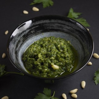 Refreshing coriander pesto recipe