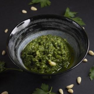 Refreshing coriander pesto recipe