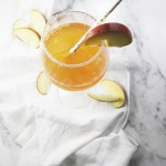 Lemon ginger infused apple cider cocktail