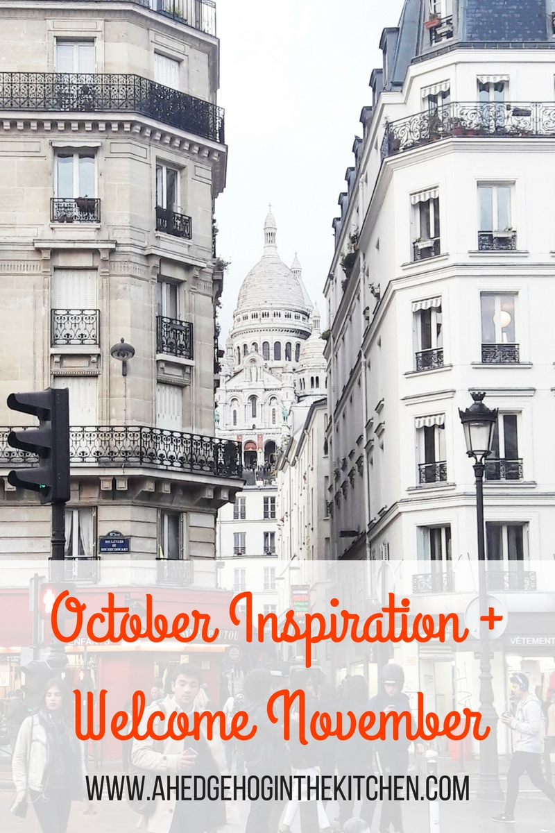 October inspiration : the Sacre Coeur, Paris. A Hedgehog in the Kitchen. www.ahedgehoginthekitchen.com.