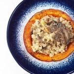 Pumpkin mushroom bowls + brown rice