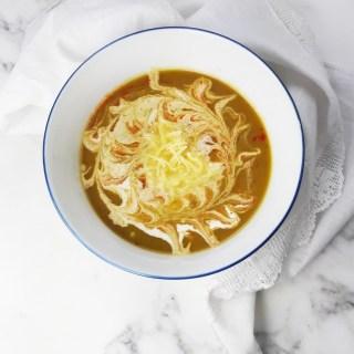 Leek sweet potato soup