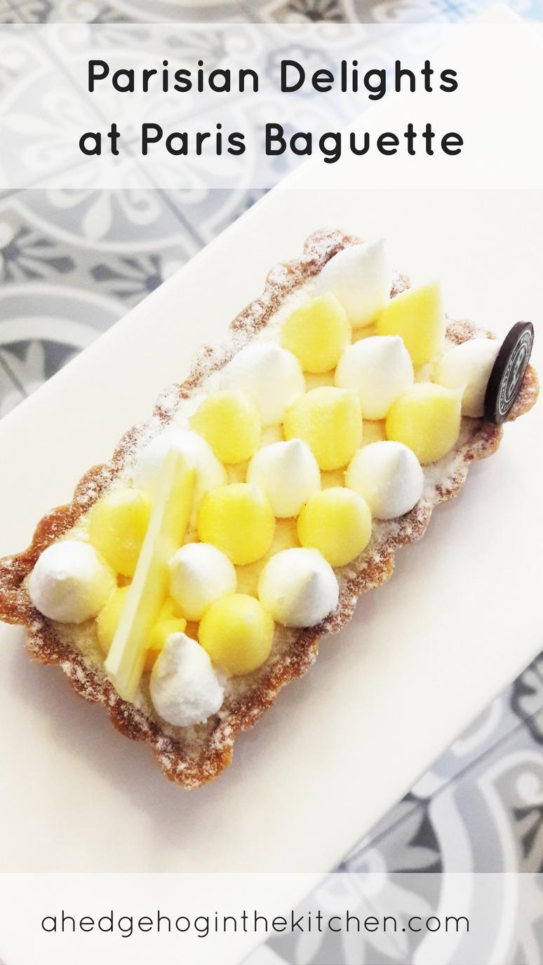 Parisian Delights at Paris Baguette. This is the BEST lemon meringue tart we've ever had! | ahedgehoginthekitchen.com