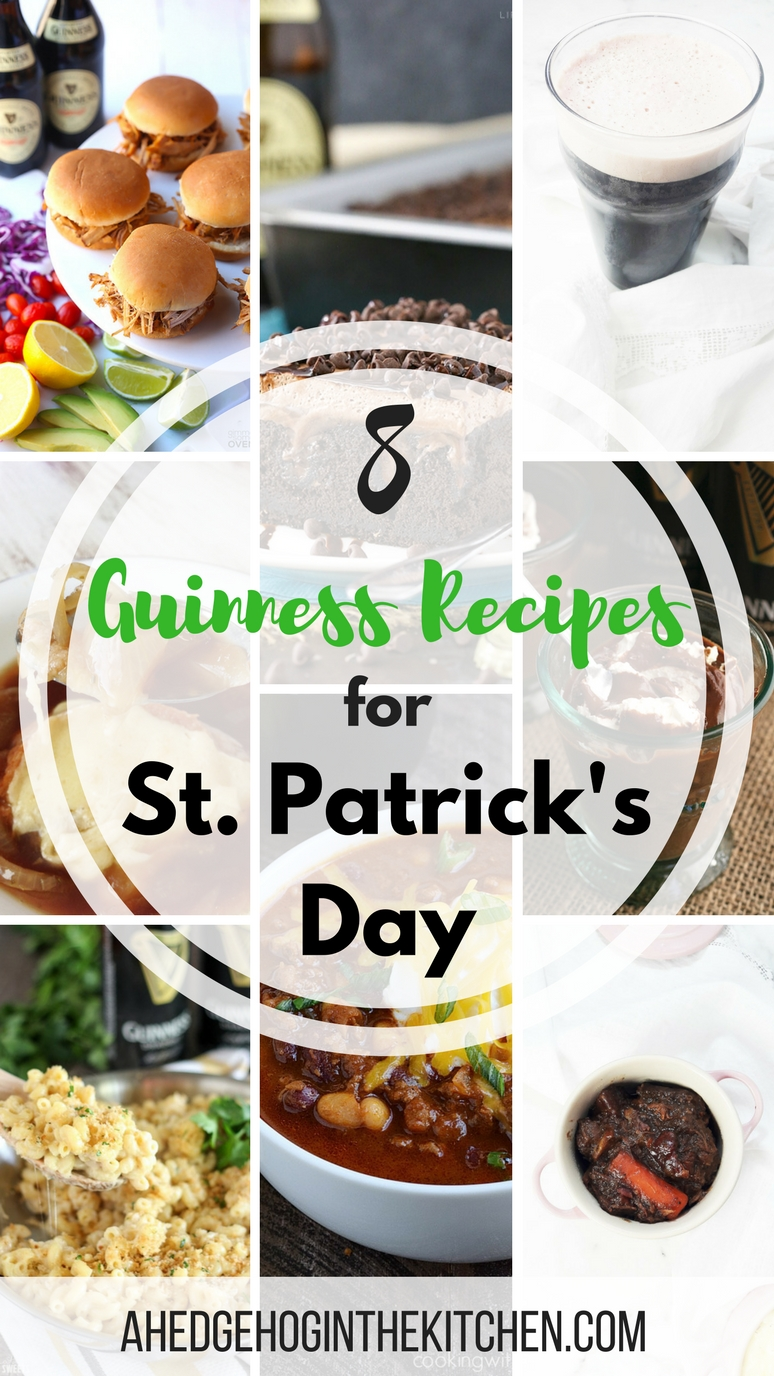8 Guinness recipes for St. Patrick's Day. | ahedgehoginthekitchen.com