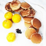 Wholewheat silver dollar bergamot tonka bean pancakes