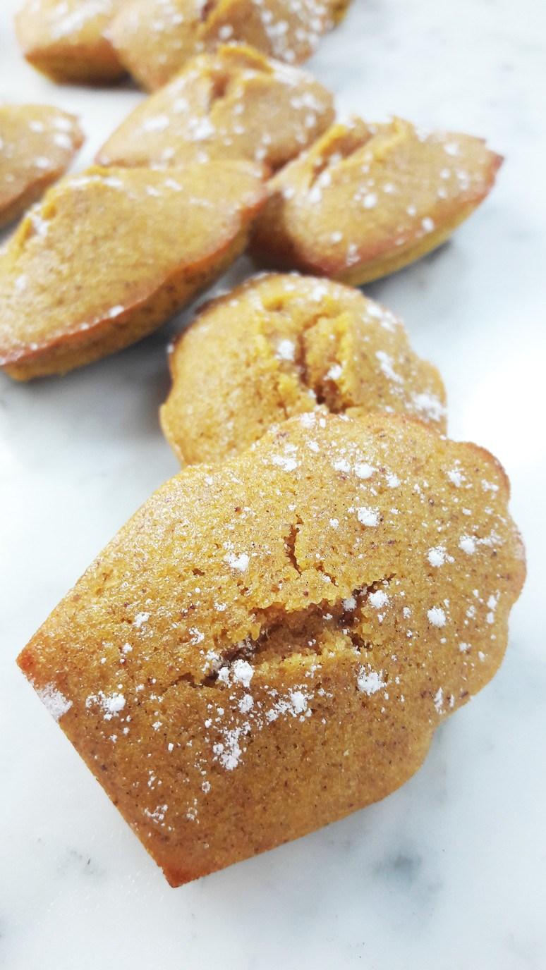 7 Pumpkin Recipes for Fall. Honey Pumpkin Madeleines.   ahedgehoginthekitchen.com