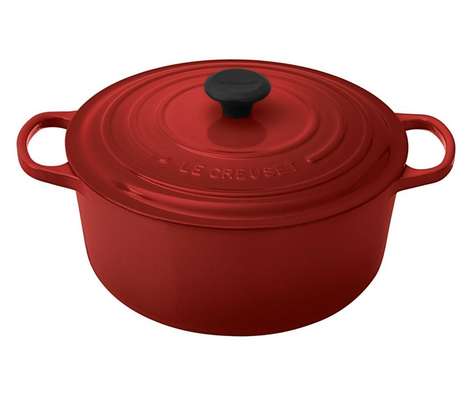 Gift Guide from Our Parisian Home. Le Creuset Red Dutch Oven. | ahedgehoginthekitchen.com