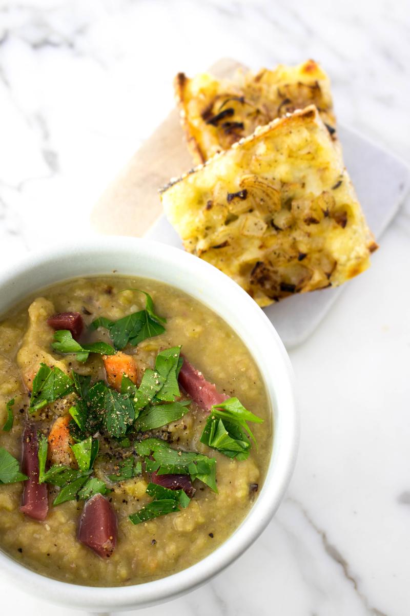 Dutch Split Pea Soup #souprecipes #dutchrecipes - ahedgehoginthekitchen.com