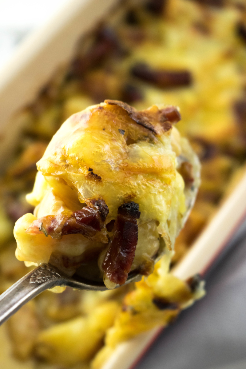 Tartiflette (French and Potato Cheese Recipe) #tartiflette #frenchrecipes - ahedgehoginthekitchen.com