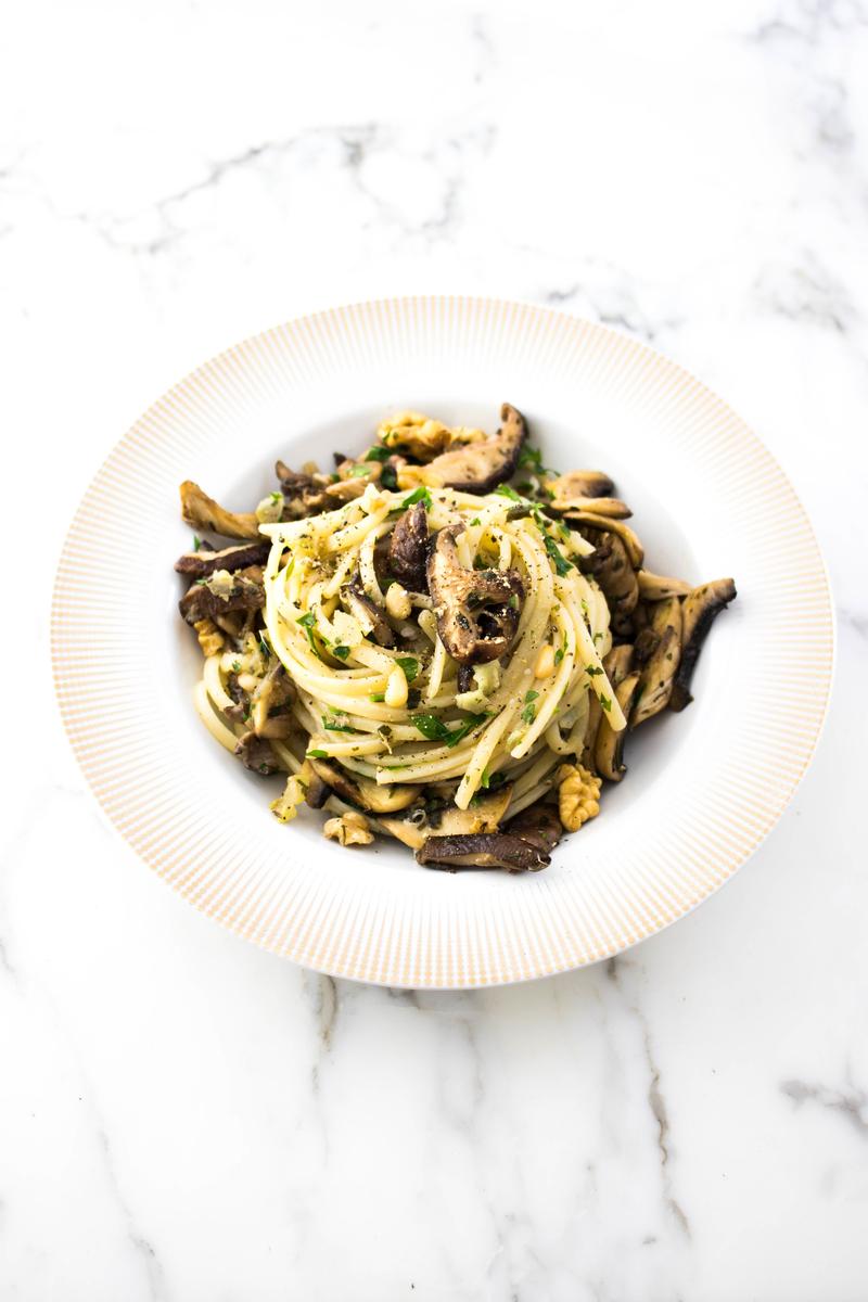 Three #Mushroom #Pasta Recipe #pastarecipe #mushroomrecipe - ahedgehoginthekitchen.com
