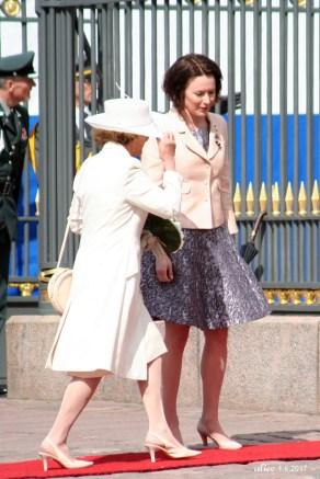 Queen Sonja of Norway and Mrs Jenni Haukio