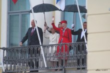 King Harald V, Queen Sonja of Norway and Queen Margrethe II of Denmark