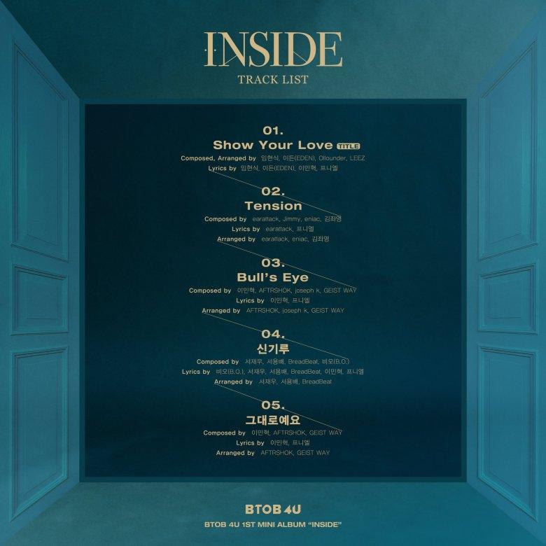 BTOB 4U 1st Mini Album Tracklist