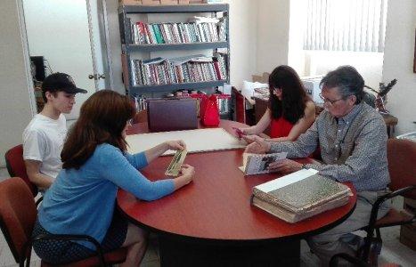 Visita Familia Pauwells al Archivo