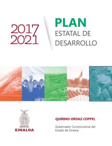 Plan Estatal de Desarrollo Sinaloa 2017 – 2021