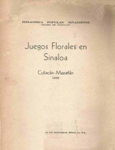 Juegos Florales en Sinaloa  Culiacán – Mazatlán 1950