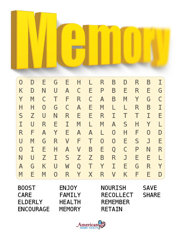 Memory - Word Search Puzzle