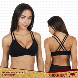Martina on Black Sports Bra #ABAMARON