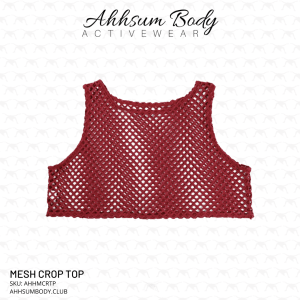 Ahhsum Body Activewear - Mesh Crop Top