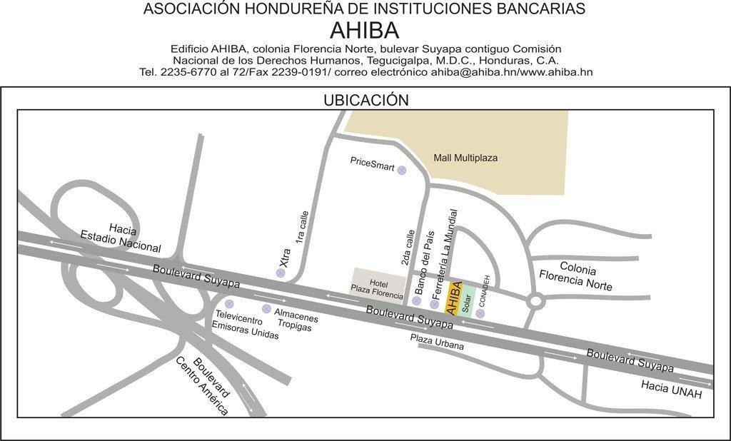 Mapa de Ubicación de AHIBA 2019