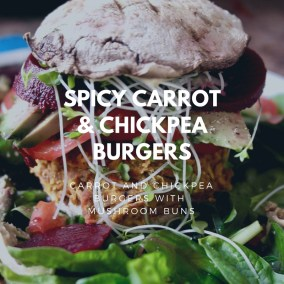 Spicy carrot & chickpea burgers