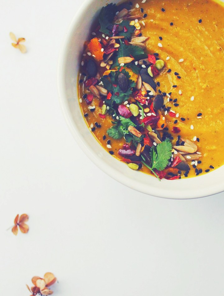 Creamy Pumpkin Coconut Soup (Oil Free)