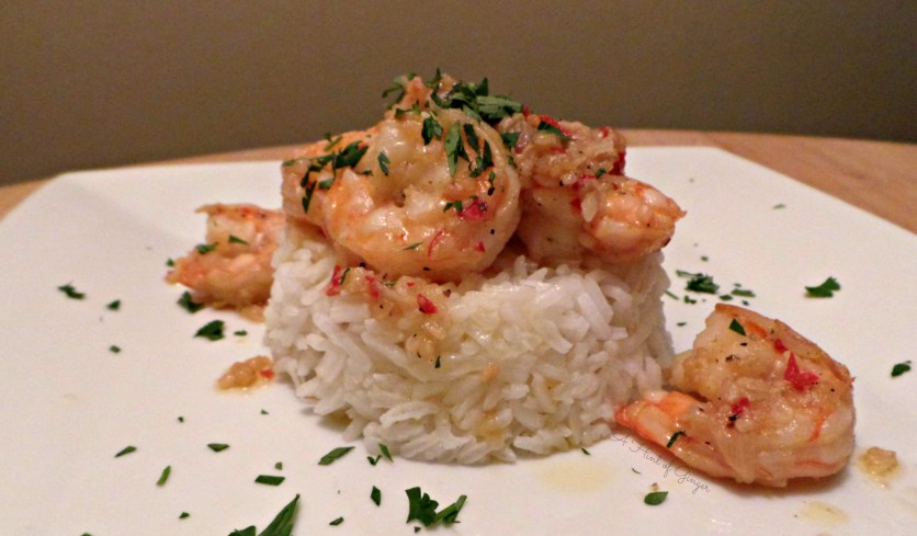 Garlic Shrimp over Rice