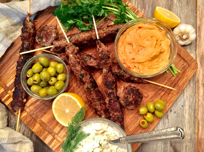 Lebanese-Style Beef Kofta with Tzatziki - A Hint of Wine